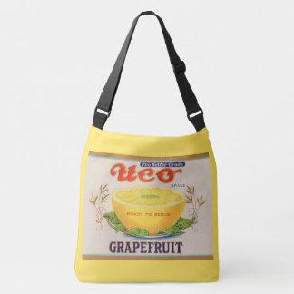 1930s Uco Brand Grapefruit label Crossbody Bag