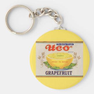 1930s Uco Brand Grapefruit label Key Ring