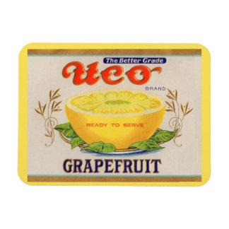 1930s Uco Brand Grapefruit label Magnet
