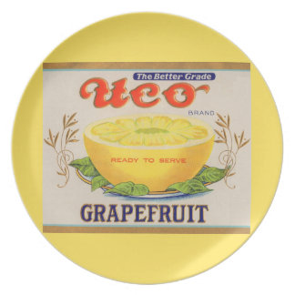 1930s Uco Brand Grapefruit label Plate