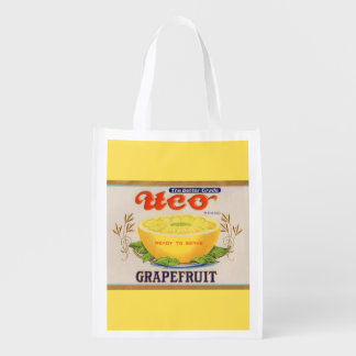 1930s Uco Brand Grapefruit label Reusable Grocery Bag