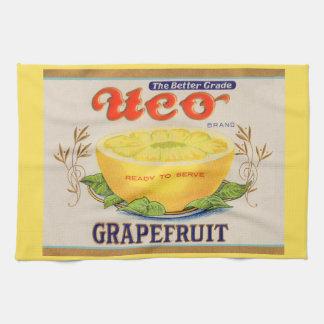 1930s Uco Brand Grapefruit label Tea Towel