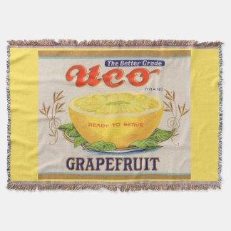 1930s Uco Brand Grapefruit label Throw Blanket