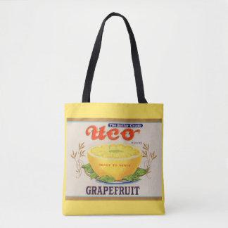 1930s Uco Brand Grapefruit label Tote Bag