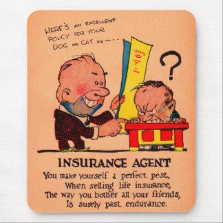 1930s vinegar valentine: the Insurance Agent Mouse Pad