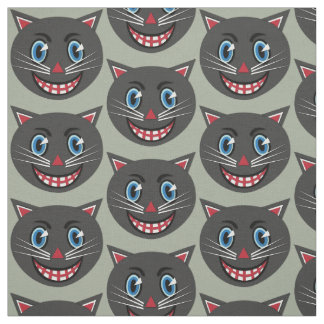 1930's Vintage Black Cat Fabric