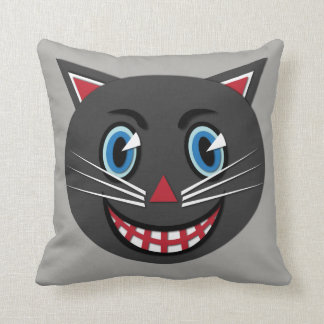 1930's Vintage Black Cat Throw Pillow
