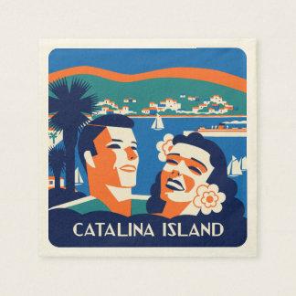 1930s Vintage Catalina Island Design Disposable Napkin