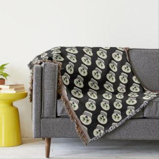 1930's Vintage Skull Throw Blanket