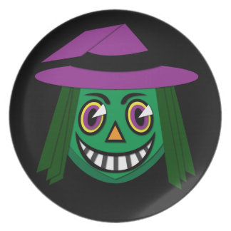 1930's Vintage Witch Mealmine Plate