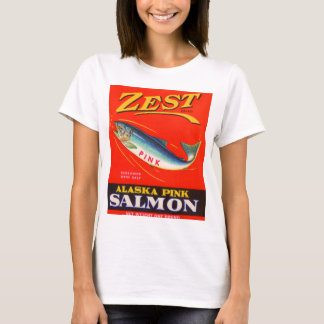 1930s Zest pink salmon can label T-Shirt