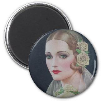 1931 Bride 6 Cm Round Magnet