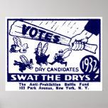 1932 Anti-Prohibition Campaign Print