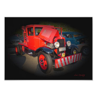 1932 CHEVY TOW TRUCK ART PHOTO