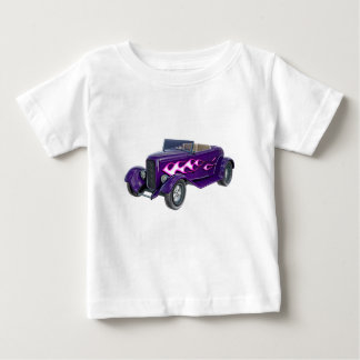 1932 Purple Roadster with Flame Baby T-Shirt