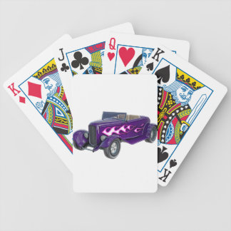 1932 Purple Roadster with Flame Bicycle Playing Cards