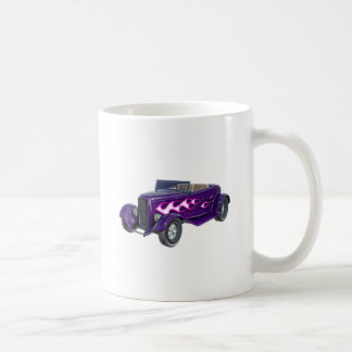1932 Purple Roadster with Flame Coffee Mug