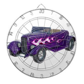 1932 Purple Roadster with Flame Dartboard