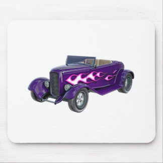 1932 Purple Roadster with Flame Mouse Pad