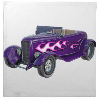 1932 Purple Roadster with Flame Napkin