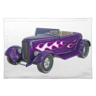 1932 Purple Roadster with Flame Placemat