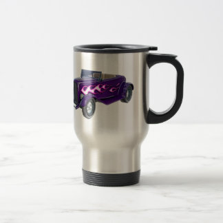 1932 Purple Roadster with Flame Travel Mug
