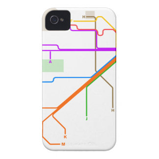 1932 San Francisco Municipal Railway Map iPhone 4 Covers