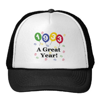 1933 A Great Year Birthday Mesh Hat