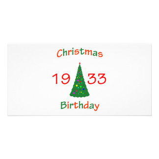 1933 Christmas Birthday Picture Card