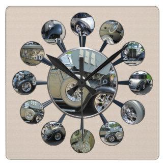 1934 Cabriolet Hupmobile Square Wall Clock