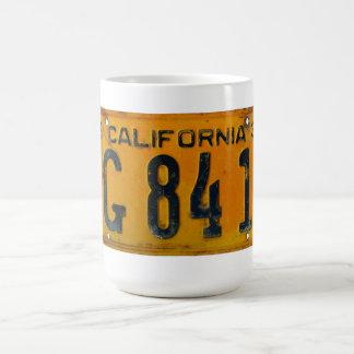 1934 California License Plate Mug