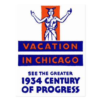 1934 Chicago Century of Progress Postcard
