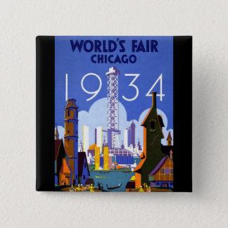 1934 Chicago World's Fair 15 Cm Square Badge
