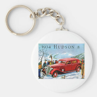 1934 Hudson 8 Vintage Automobile Advertisement Key Ring