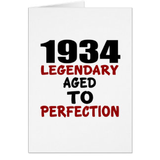 1934 LEGENDARY AGED TO PERFECTION CARD