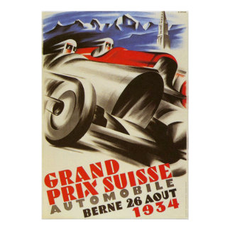 1934 Swiss Grand Prix Poster