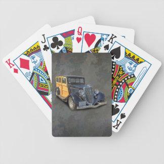 1934 VINTAGE WOODIE BICYCLE PLAYING CARDS