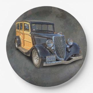 1934 VINTAGE WOODIE PAPER PLATE