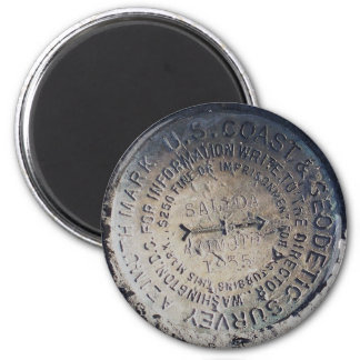 1935 Azimuth Survey Mark Magnet