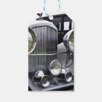 1935 DERBY BENTLEY CAR Gift Tag