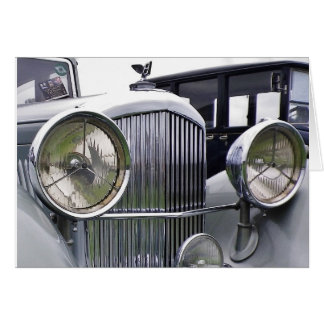 1935 DERBY BENTLEY CAR Greeting Card