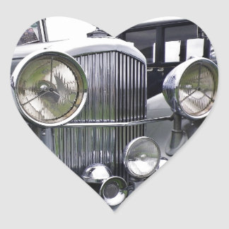 1935 DERBY BENTLEY CAR Heart Sticker