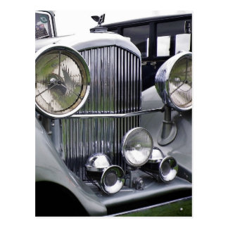 1935 DERBY BENTLEY CAR Postcard (Portrait)