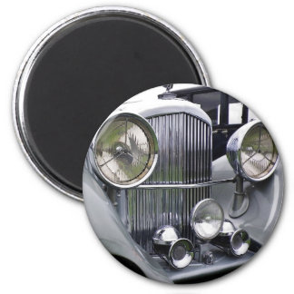 1935 DERBY BENTLEY CAR Round Magnet