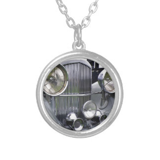 1935 DERBY BENTLEY CAR Silver Plated Necklace