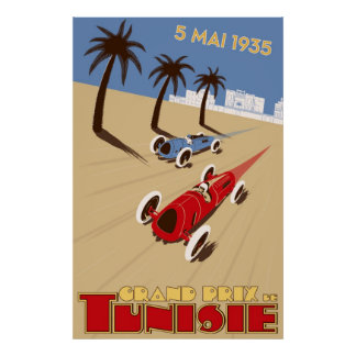 1935 Grand Prix Tunisie Poster