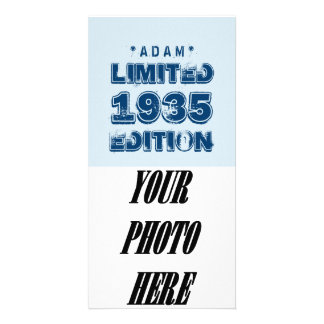 1935 or Any Year Birthday Limited Edition 80th V2Z Photo Greeting Card