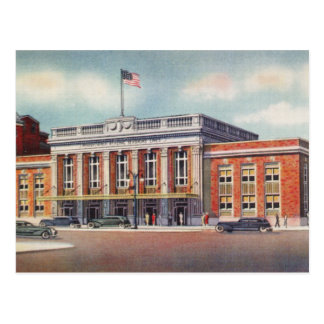 1936 Atlantic City  Train Station PRSL Postcard