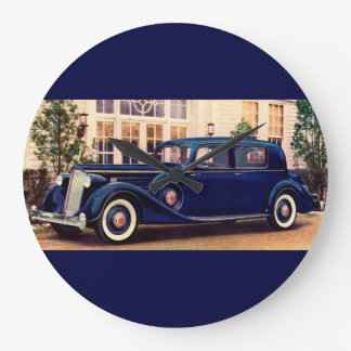 1936 blue Packard Large Clock