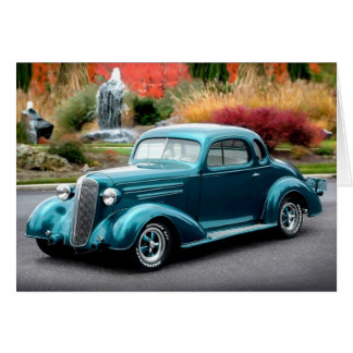 1936 Chevy Chevrolet Coupe Hot Rod Greeting Card